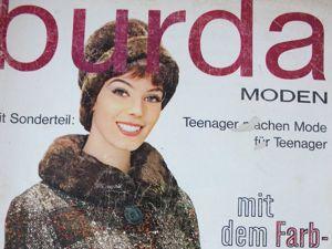 Burda moden 10/1961  Бурда Моден. Ярмарка Мастеров - ручная работа, handmade.