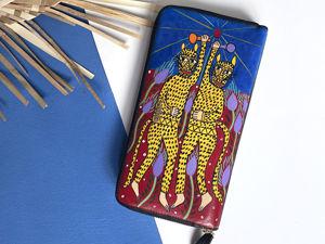 Видео органайзера с ручной росписью Ягуары. Ярмарка Мастеров - ручная работа, handmade.