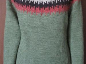 Джемпер женский вязаный с круглой кокеткой. Ярмарка Мастеров - ручная работа, handmade.