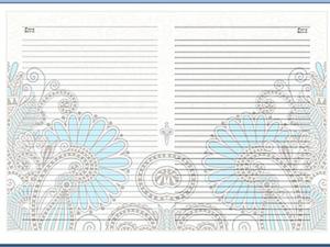 Как сделать красивые странички в блокнот с помощью программы Word. Ярмарка Мастеров - ручная работа, handmade.