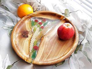 Как использовать деревянную посуду с заливками из полимера. Ярмарка Мастеров - ручная работа, handmade.
