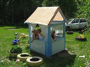 Детский игровой домик своми руками. Ярмарка Мастеров - ручная работа, handmade.