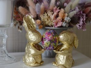 Делаем пасхальных кроликов. Ярмарка Мастеров - ручная работа, handmade.