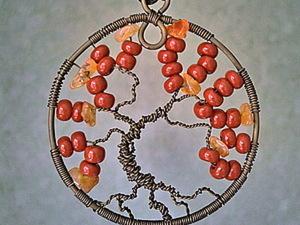 «Древо жизни»: создаем простой и красивый кулон из проволоки. Ярмарка Мастеров - ручная работа, handmade.