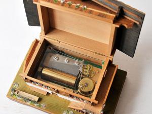 1970 REUGE Швейцария Музыкальная Шкатулка Домик Шале в Горах. Ярмарка Мастеров - ручная работа, handmade.