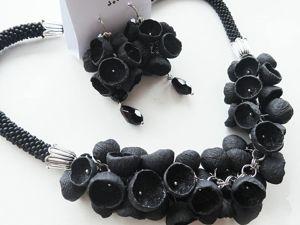 Черный цвет в украшениях. Ярмарка Мастеров - ручная работа, handmade.