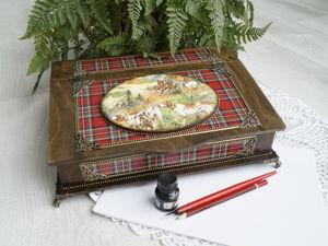Мастерим бюро для бумаг «Английская охота». Ярмарка Мастеров - ручная работа, handmade.