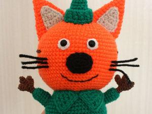 Мастер-класс: вязание котенка Компота из мультфильма «Три кота». Ярмарка Мастеров - ручная работа, handmade.