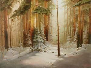 Видео мастер-класс: пишем зимний лес. Ярмарка Мастеров - ручная работа, handmade.