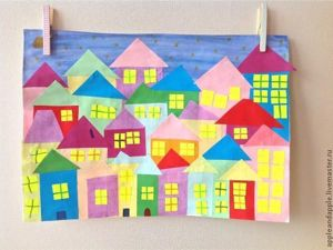 Night City Paper Craft with Children. Livemaster - handmade