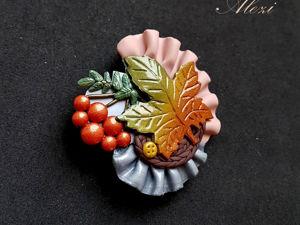 Создаём брошь «Осеннее бохо». Ярмарка Мастеров - ручная работа, handmade.