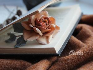 Лепим брошь с розой из полименой глины. Ярмарка Мастеров - ручная работа, handmade.