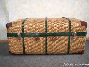 Большой плетённый сундук. Ярмарка Мастеров - ручная работа, handmade.