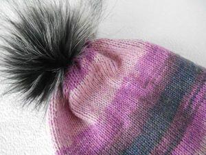 Вяжем двойную шапку из мохера на Silver Reed LK 150. Ярмарка Мастеров - ручная работа, handmade.