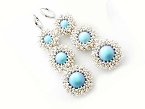 Creating Earrings from Beads and Swarovski Pearls. Livemaster - handmade
