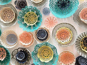 Unusual Use of Crocheted Doilies by the French Artist Maillo as Inspiration for Creativity. Livemaster - handmade