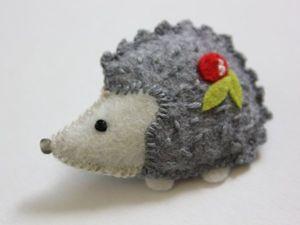 Делаем милую брошь «Ёжик» из фетра. Ярмарка Мастеров - ручная работа, handmade.