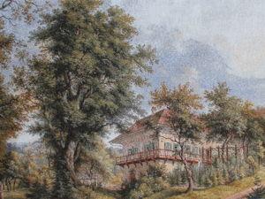 Загадочный, напоенный светом, пронизанный простором и неспешным течением лет пейзаж Дом в саду. Ярмарка Мастеров - ручная работа, handmade.