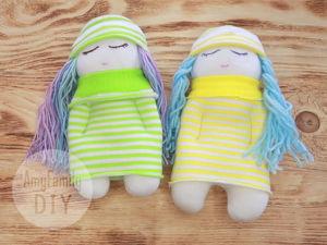 Как сшить куклу из носков. Ярмарка Мастеров - ручная работа, handmade.