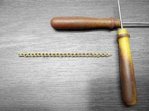 Процесс изготовления вязаной цепочки из проволоки. Ярмарка Мастеров - ручная работа, handmade.