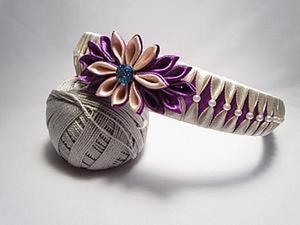 Оплетение ободка лентами с бусинами. Ярмарка Мастеров - ручная работа, handmade.