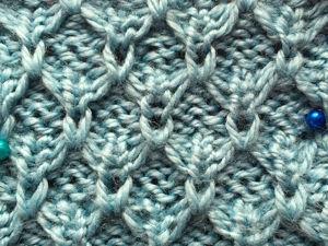 Как связать спицами узор с вытянутыми петлями. Ярмарка Мастеров - ручная работа, handmade.