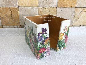 Салфетница  «Полевые цветы»  для Ольги. Ярмарка Мастеров - ручная работа, handmade.
