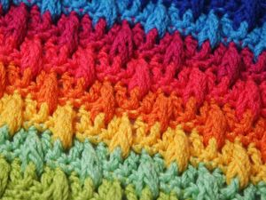 Вяжем разноцветный плед покрывало. Ярмарка Мастеров - ручная работа, handmade.