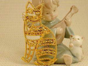 Винтажные украшения с чудными котиками! Часть 5. Ярмарка Мастеров - ручная работа, handmade.