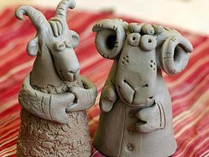 Лепим барашка Ивановича и козочку Потаповну из природной глины. Ярмарка Мастеров - ручная работа, handmade.