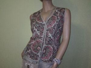 Лентние блузки из льна. Ярмарка Мастеров - ручная работа, handmade.