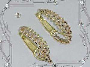 Серьги «ТРИНИТИ» золото 585 пробы (желтое, розовое, белое). Ярмарка Мастеров - ручная работа, handmade.