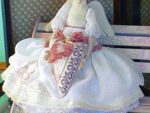 Создаем для куколки прическу из шнуровой пряжи. Ярмарка Мастеров - ручная работа, handmade.