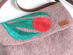 Валяная сумка  «Тюльпан». Ярмарка Мастеров - ручная работа, handmade.