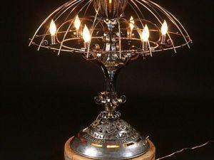 34 идеи настольных светильников в стилях Steampunk и Industrial. Часть 2. Ярмарка Мастеров - ручная работа, handmade.