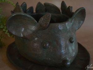 Ёш или Мыжь? Милый обитатель зелёного леса и подоконника. Ярмарка Мастеров - ручная работа, handmade.