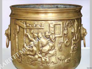 Редкость Кашпо Большое лев латунь бронза Бельгия 12. Ярмарка Мастеров - ручная работа, handmade.