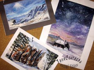 Распродажа акварельных зимних пейзажей. Ярмарка Мастеров - ручная работа, handmade.