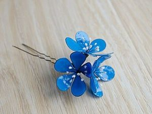 Homemade Jewelry: Creating a Hairpin with Flowers. Livemaster - handmade