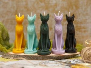 Новые свечи:  «Бастет». Ярмарка Мастеров - ручная работа, handmade.