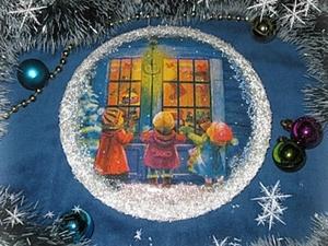 """Новогоднее панно """"Из морозного окошка..."""". Ярмарка Мастеров - ручная работа, handmade."""