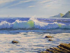 Картина морской пейзаж. Ярмарка Мастеров - ручная работа, handmade.