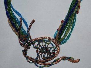 Изготовление колье «Новогодняя улитка». Ярмарка Мастеров - ручная работа, handmade.