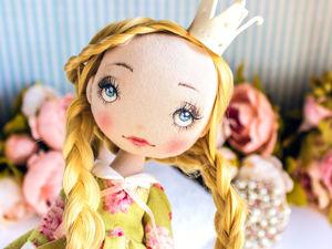 Принцесса Ивон  текстильная кукла, подарок  8 марта, подарок девочке. Ярмарка Мастеров - ручная работа, handmade.