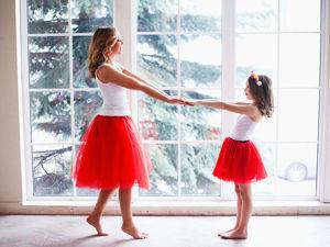 Шьем юбки в стиле фэмили лук (мама, дочка). Облегченный вариант. Ярмарка Мастеров - ручная работа, handmade.