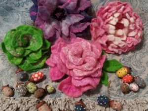 Разнообразила акварельную живопись шерстевалянием. Ярмарка Мастеров - ручная работа, handmade.
