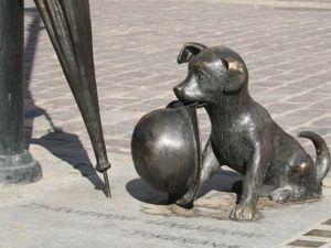 Статуя маленькой собачки Филюса. Ярмарка Мастеров - ручная работа, handmade.