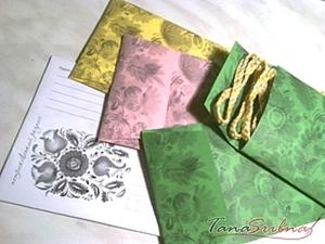 Подарочные конверты с принтом петриковской росписи. Ярмарка Мастеров - ручная работа, handmade.