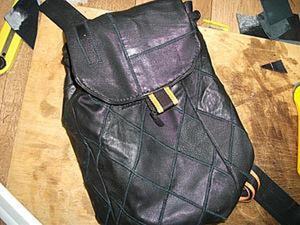 Мастер-класс: Кожаный рюкзачок из кусочков кожи. Часть 1. Ярмарка Мастеров - ручная работа, handmade.