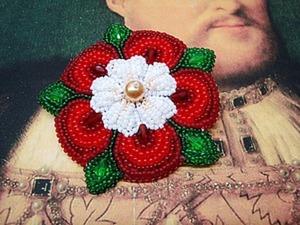 Вышиваем бисером брошь «Роза Тюдоров». Ярмарка Мастеров - ручная работа, handmade.